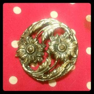 Vintage Silver plate Brooch
